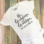 Free Shipping - Pregnancy Announcement Onesie | Baby ONESIES® | Pregnancy Reveal | To Daddy | To Grandparents | Photography Prop | Pregnant