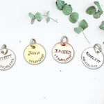 "3/4"" Cat ID Tag for Collar Small to Medium Sized Pet ID Tag Custom Cat Tag for Cat Tags Pet Tag  Personalized Brass Cat Tag Copper Tag"