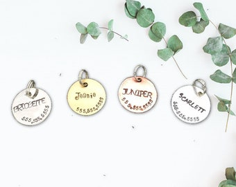 Pet Tags- Handstamped