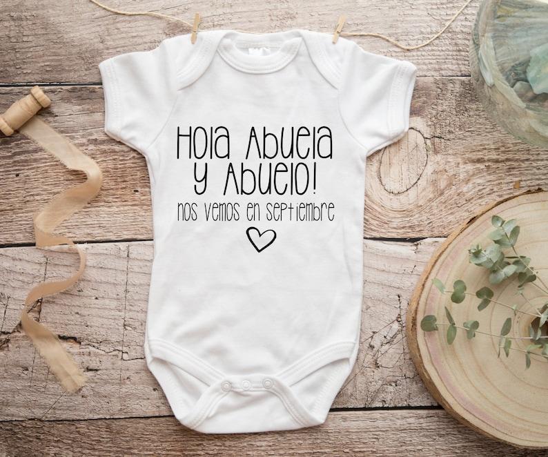 Spanish Personalized Pregnancy Announcement Abuelitos image 0
