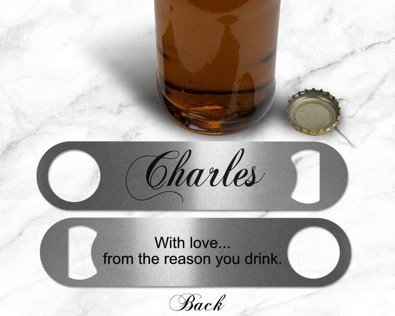 Personalized Bottle Opener Super Dad Fathers Day Gift For image 0