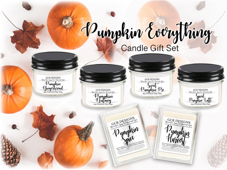 Pumpkin Everything Candle Gift Set Soy Candle Gifts image 0