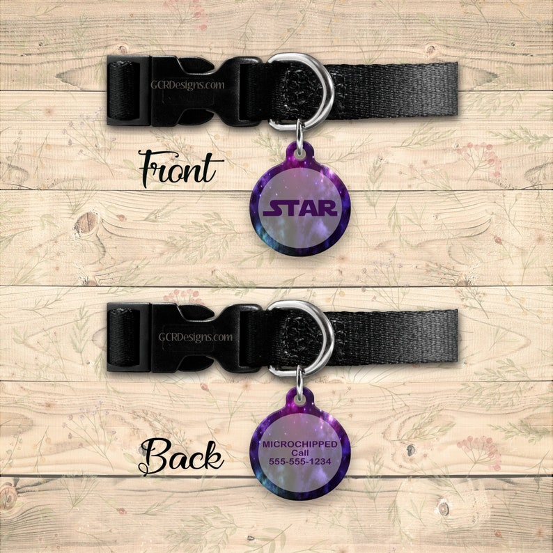 Galaxy Pet ID Tag Dog id Tag Custom Cat Tag ID Tag for image 0