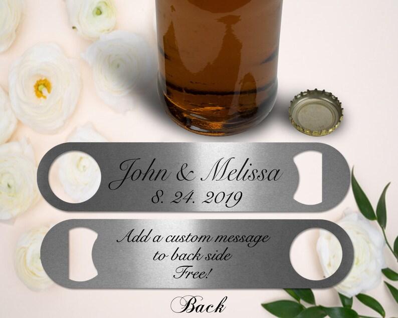 Personalized Wedding Bottle Opener Wedding Favors Party image 0