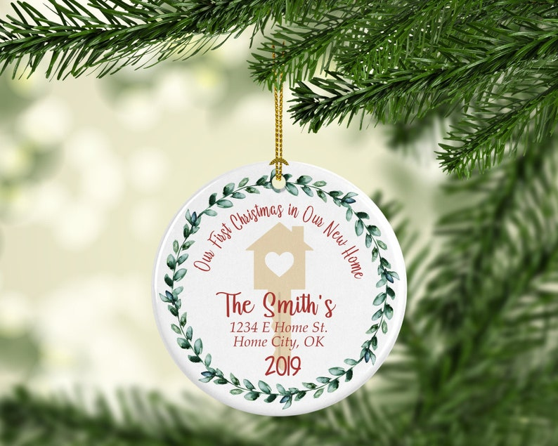 New Home Personalized Christmas ornaments Christmas image 0