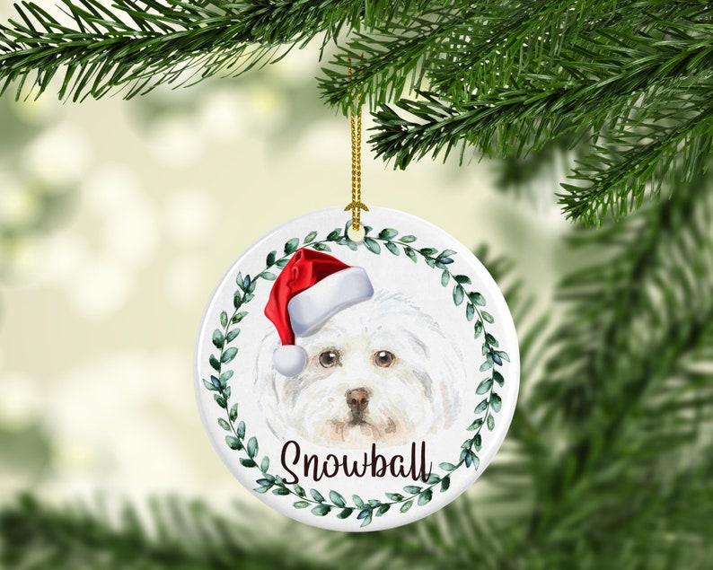 Maltese Dog Personalized Dog Ornament Personalized Dog image 0