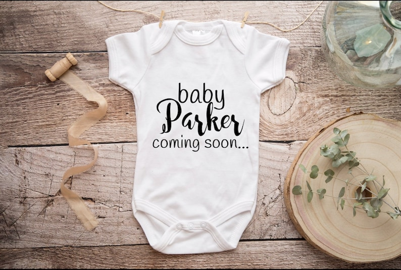 Personalized Last Name  Baby Announcement Gerber Onesie® image 0