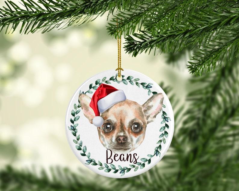 Chihuahua Dog Personalized Dog Ornament Personalized Dog image 0