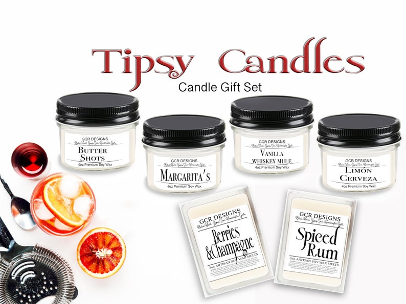 The Tipsy Candle Gift Set Soy Candle Gifts Housewarming image 0