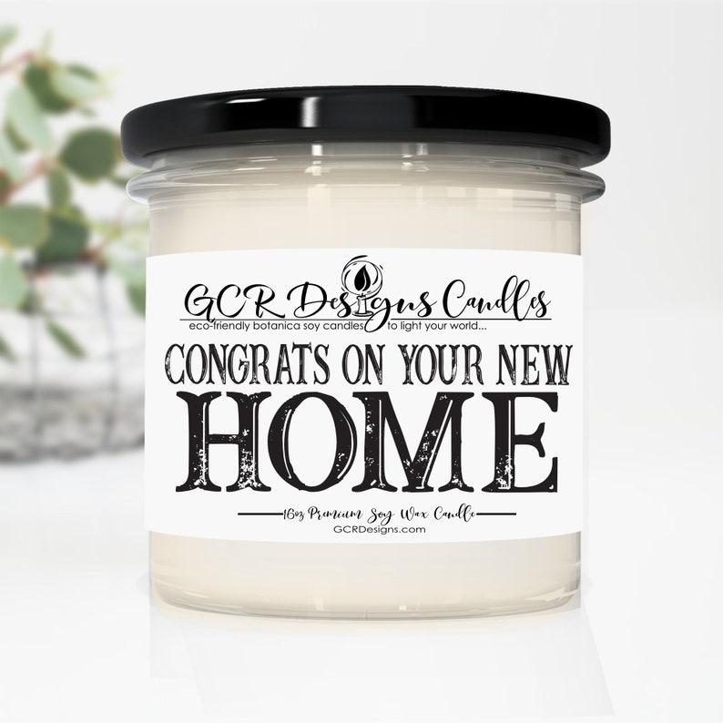 Congrats on Your New Home Candle Gift Scented Soy Candle image 0