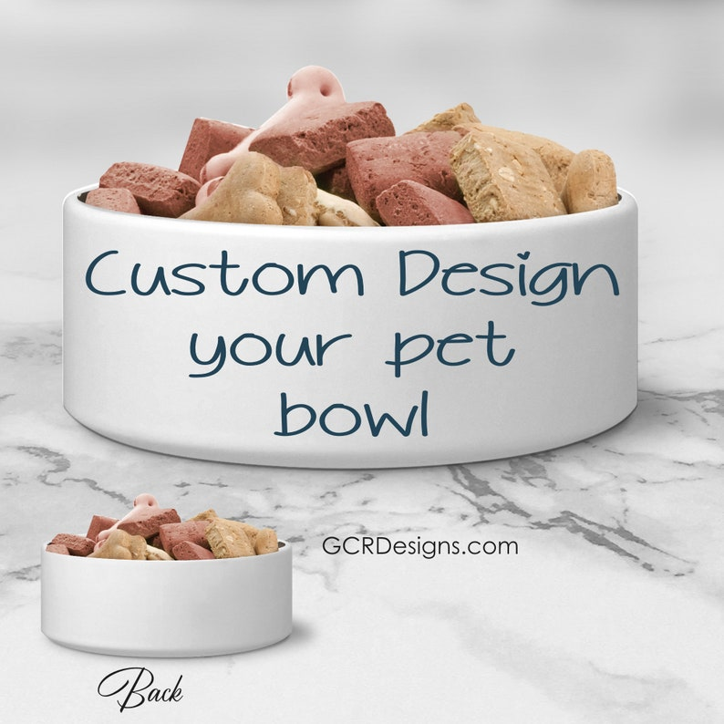 Custom Order Personalized Pet Bowl Ceramic Dog Bowl Cat image 0