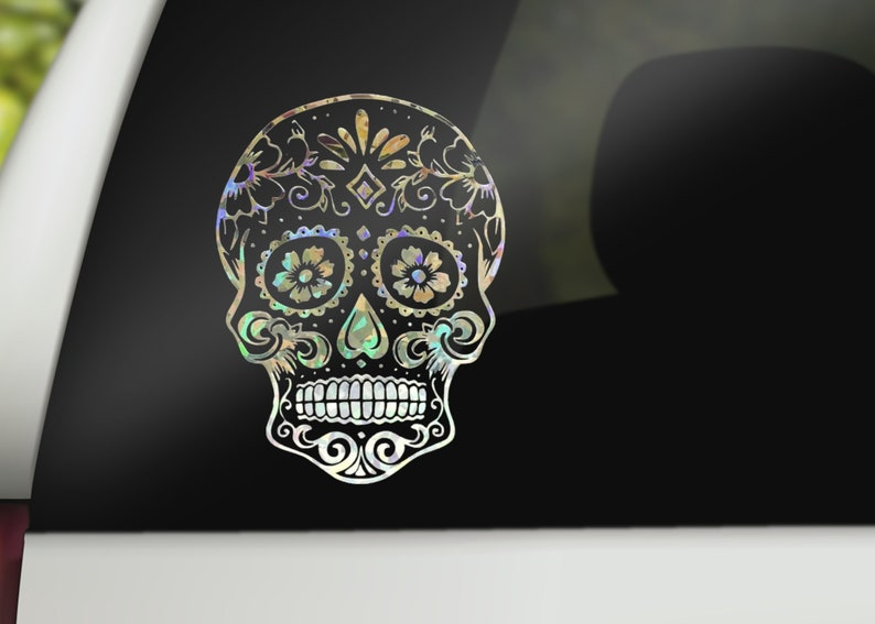 Sugar Skull  Candy Skull  Day of the Dead Custom Vinyl image 0