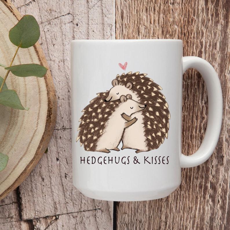 Hugs & Kisses Hedgehogs Valentines Puns For Him For her image 0