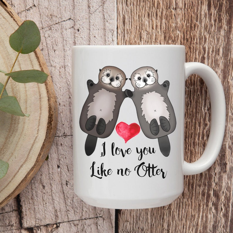 I Love You Like No Otter  Otters  Valentines  Puns  For image 0