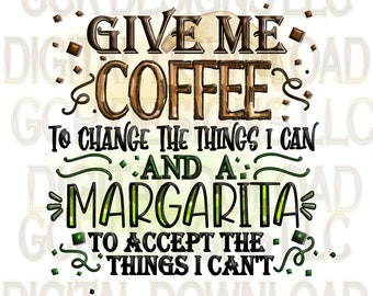 Coffee, Margarita, Downloads, Sublimation Download, Downloadable Prints, Sublimation Designs, File, Digital Download, Clipart, Graphics