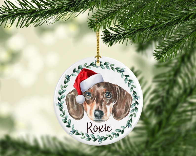 Dachshund Dog Personalized Dog Ornament Personalized Dog image 0