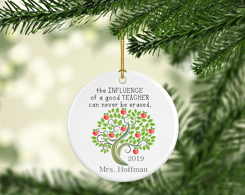 Personalized Ornament The influence of a good Teacher can image 0