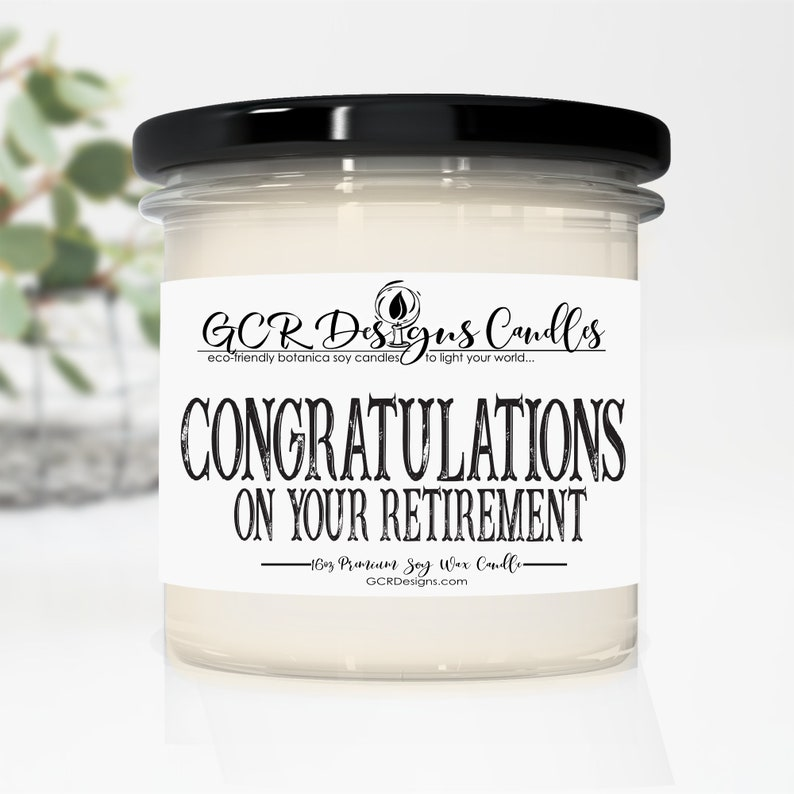 Congrats On Your Retirement Candle Gift Scented Candle Gift image 0