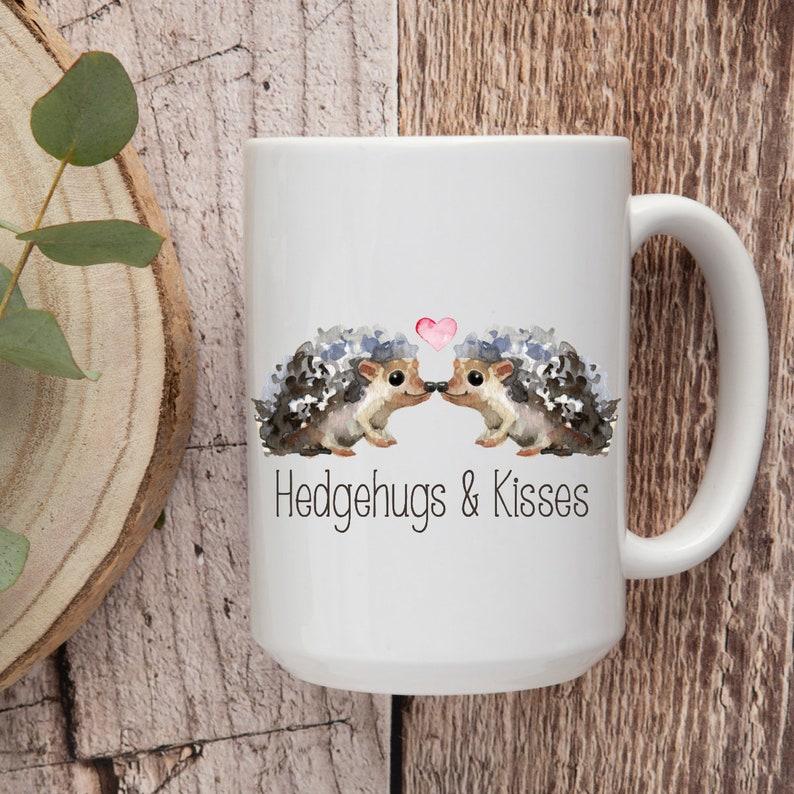 Hedgehugs & Kisses I Love You More hedgehogs Coffee Mug image 0