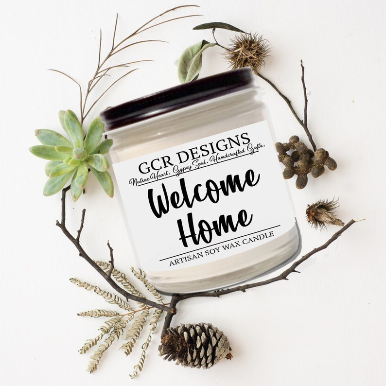 Welcome Home Soy Candle Handpoured Vegan Cinnamon & Cloves image 0