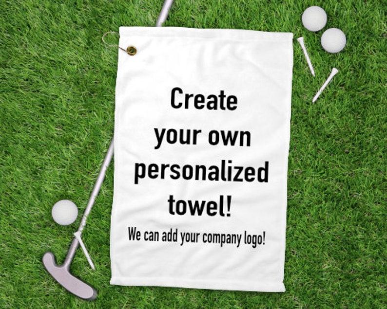 Personalized golf towel custom golf towel  golf golf gifts image 0