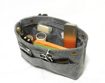 TopHome Organizer Bag Makeup Bag Felt Container Cosmetic Bag Toiletry Storage Organizing Handbag Insert Handbag Gifts Thanksgiving Gift