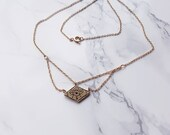 """See no evil triple chain necklace, all seeing eye, """"I see life's magic"""" goldfilled  necklace  layered style necklace"""