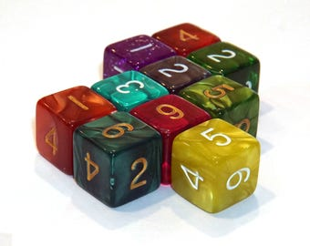 6 Sided Dice - Assorted