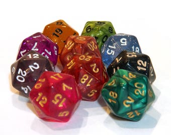 20 Sided Dice - Assorted