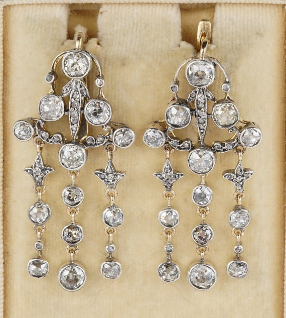 Victorian 6.0 Carat Diamond Plus Rare Chandelier E