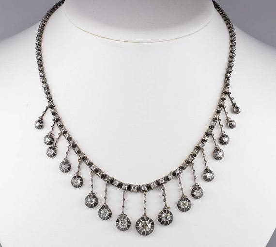Magnificent Victorian 16.00 Ct diamond rare French