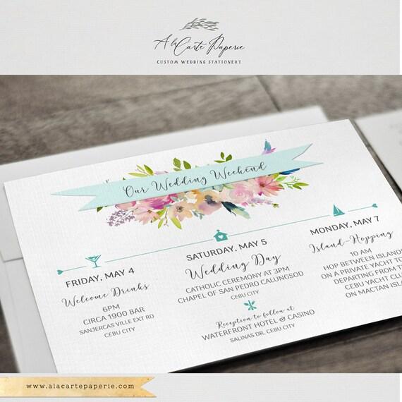 Philippines Destination Illustrated Wedding Invitation Watercolor Cebu Bantayan Boracay Manila Subic Bay Filipino Wedding Deposit Payment
