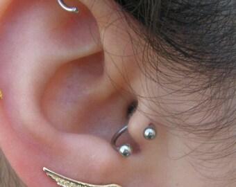 14k body piercing Gold Septum Eyebrow Gold piercing Horseshoe earring .Nipple earring Tragus, Bull Ring Small 14k Gold Septum Ring
