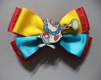 Alice in wonderland White Rabbit  /  Hair Bow