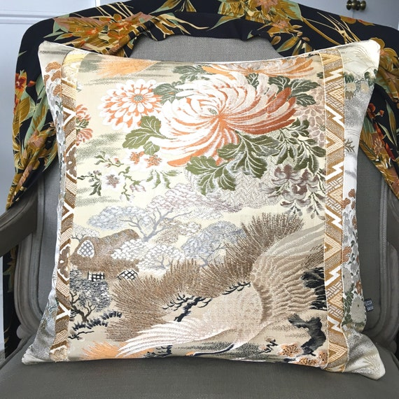 Oriental Chinoiserie Boho Decorative Pillow Cushion With Etsy Best Lush Decor Special Edition Pillows