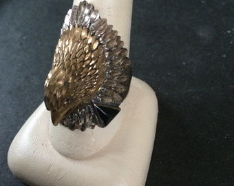 Vintage 925 Sterling Silver Eagle Design Ring, SIze 10.75