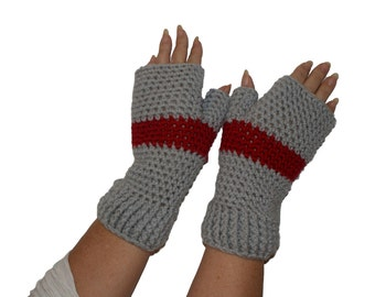 Crochet Mittens, Mens Hand Warmers, Gray Winter Mittens, Mens Fingerless Gloves, Texting Gloves, Gray Mitts, Mittens Woman, Crochet Gloves