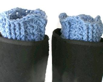 Boot Cuffs, Crochet Boot Toppers, Womens Leg Cuffs, Winter Trend, Boot Socks, Blue Boot Cuffs, Leg Warmers, Fall Fashion Boot Toppers