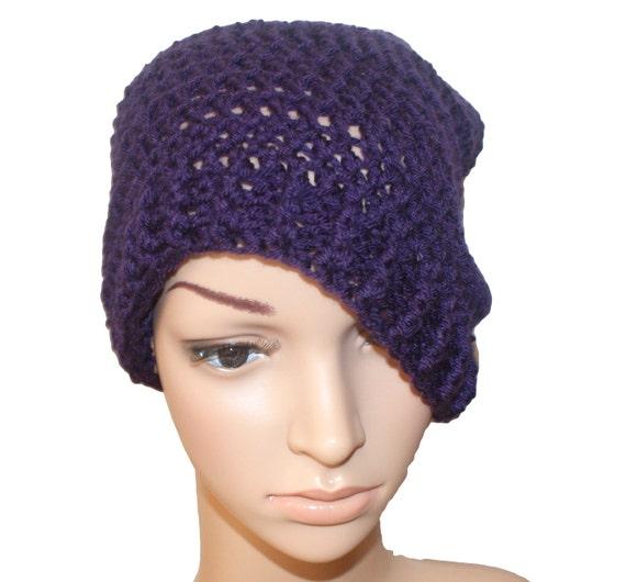 Knit Hat Womens Hats Winter Hat Winter Beanie Purple Hat  98ae65187f2