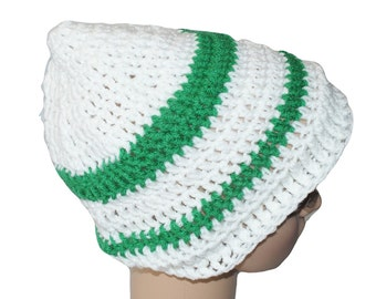 Slouch Hat, Slouchy Hat, Winter Beanie, Mens Winter Hat, Christmas Hat, White Beanie, White Winter Hat, Holiday Hat, Mens White Hat