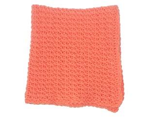 Crib Afghan, Crochet Baby Afghan, Orange Blanket, Crochet Afghan, Orange Baby Blanket, Orange Afghan, Mango Blanket, Stroller Afghan, Pram