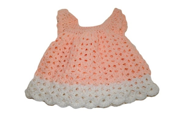 Crochet Baby Dress Pinafore Lacy Newborn Dress Infant Baby Etsy