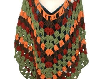 Womens Poncho, Woman Poncho, Womens Fashion Wrap, Spring Poncho, Woman Cape, Crochet Shawl, Womens Capelet, Womens Cape, Poncho