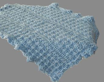 Crochet Baby Afghan, Blue Blanket, Blue Afghan, Doll Afghan, Baby Blanket Boy, Crochet Baby Blanket, Blue Baby Blanket, Crib Blanket,