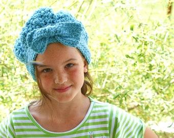 Winter Fashion Hat, Blue Sock Cap, Snow Hat, Womens Fashion Hat, Vintage Style Cloche, Ladies Winter Beanie, Dress Hat, Womens Crochet