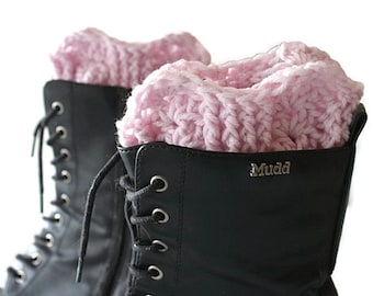 Boot Cuffs, Boot Sock Cuffs, Boot Socks, Pink Boot Cuffs, Ankle Warmers, Boot Toppers, Cuff Boot, Winter Boot Topper, Pink Boot Socks