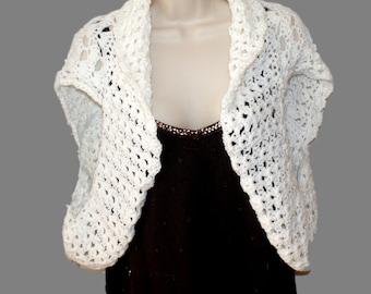 White Shrug, Crochet Bolero, Womens Vest, Crochet White Sweater, Plus Size Shrug, Womens Plus Size, Womens Sweater, Shrug Vest, Trendy Shrug