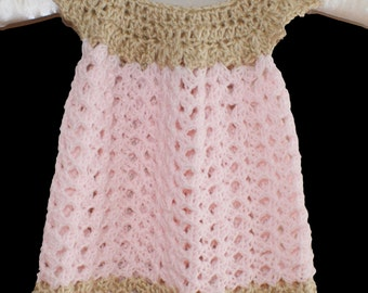 Pink Baby Girl Dress, Baby Clothes, Girl Clothing, Child frock, Crochet Baby Dress, Infant Easter Dress, Spring Baby Dress, Baby Gown