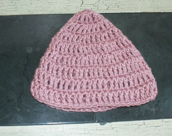 Pink baby girl hat, Crochet Baby Cloche, Baby Sock Cap, Pink Infant Beanie, Baby Winter Hat, Baby Snow Hat, Crochet Cloche, Babies Hat