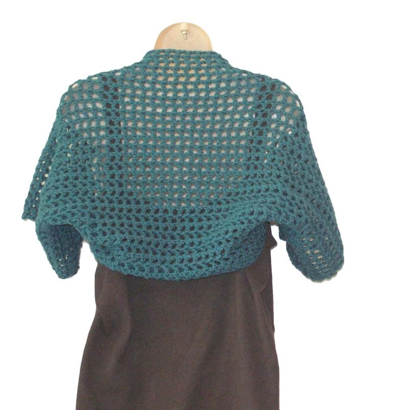 Short Sleeve Shrug Teal Bolero Womens Vest XL Shrug XL Bolero Women Plus Size Shrugs Boleros Plus Size Shrug Sizes SM-3X Teal Shrug